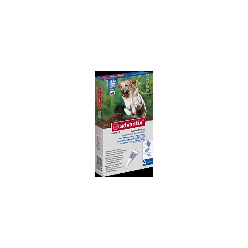 Advantix para perros de más 25 kilos 4 pipetas