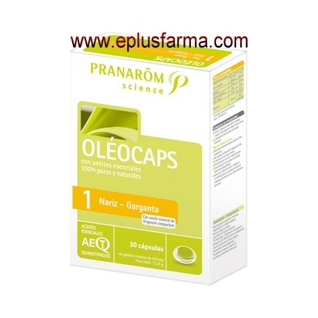 Oleocaps 1 Nariz Garganta 30 cápsulas