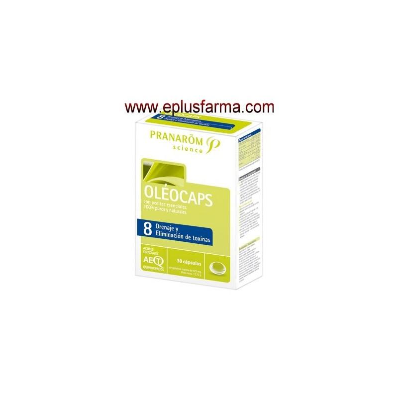 Oleocaps 8 Drenaje y Eliminación de toxinas 30 cápsulas
