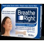 Breathe Right 10 Tiras nasales tamaño pequeño/mediano