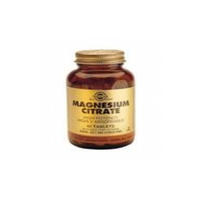Solgar Citrato de Magnesio. 120 comp.