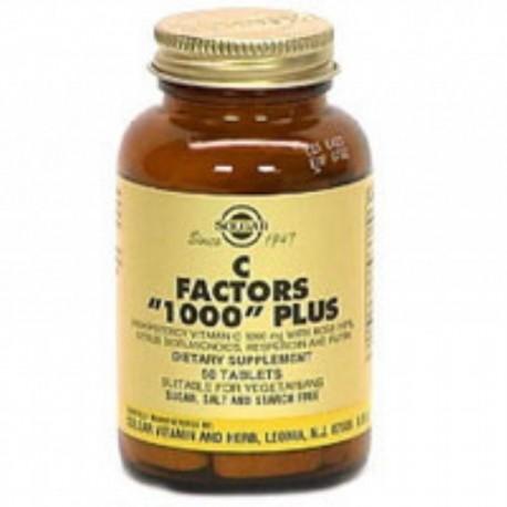 Solgar Factores C 1000 Plus. 50 comp
