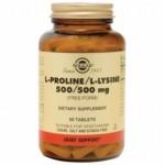Solgar L-Prolina 500 mg./L-Lisina 500 mg. 90 comp.