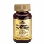 Solgar Nutrientes Prenatales. 120 comp